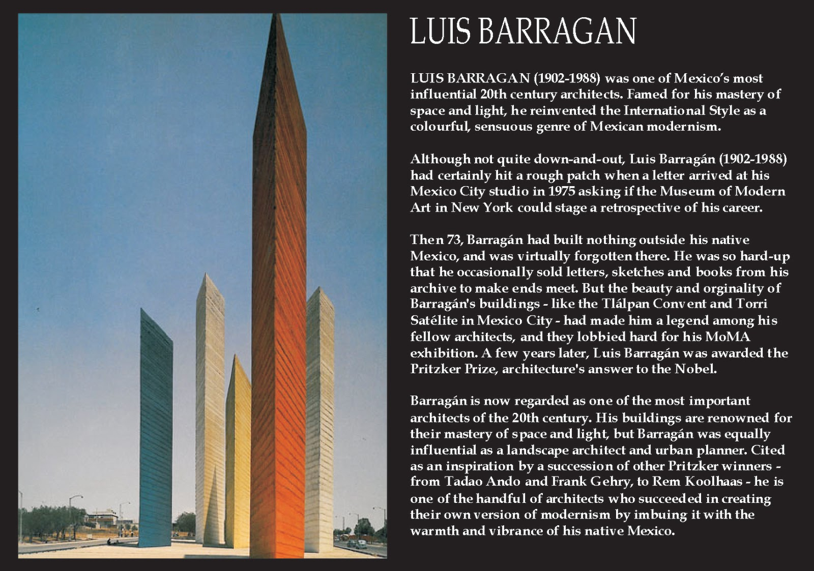 ... BARRAGAN (1902-1988) Mexican Architect - Poetic Architectural Style