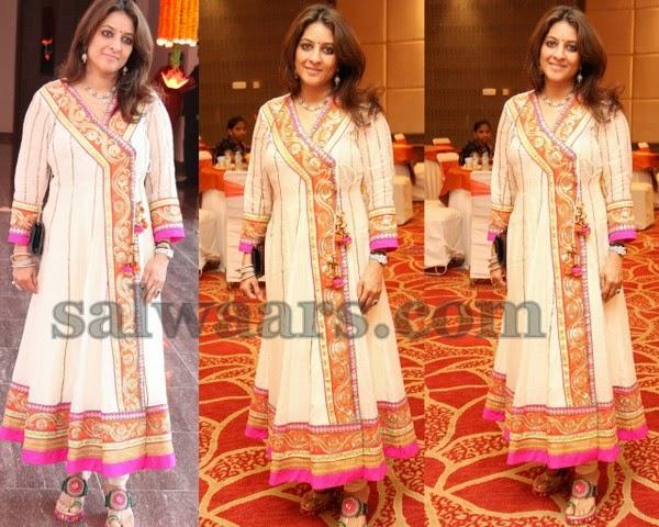 White Organza Salwar