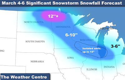 The Weather Centre: March 4-8 Significant Winter Storm (Updated 3/3)