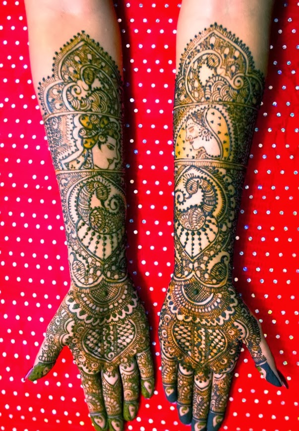 Beautiful Indian Mehndi Design 2014 for Girls and Women