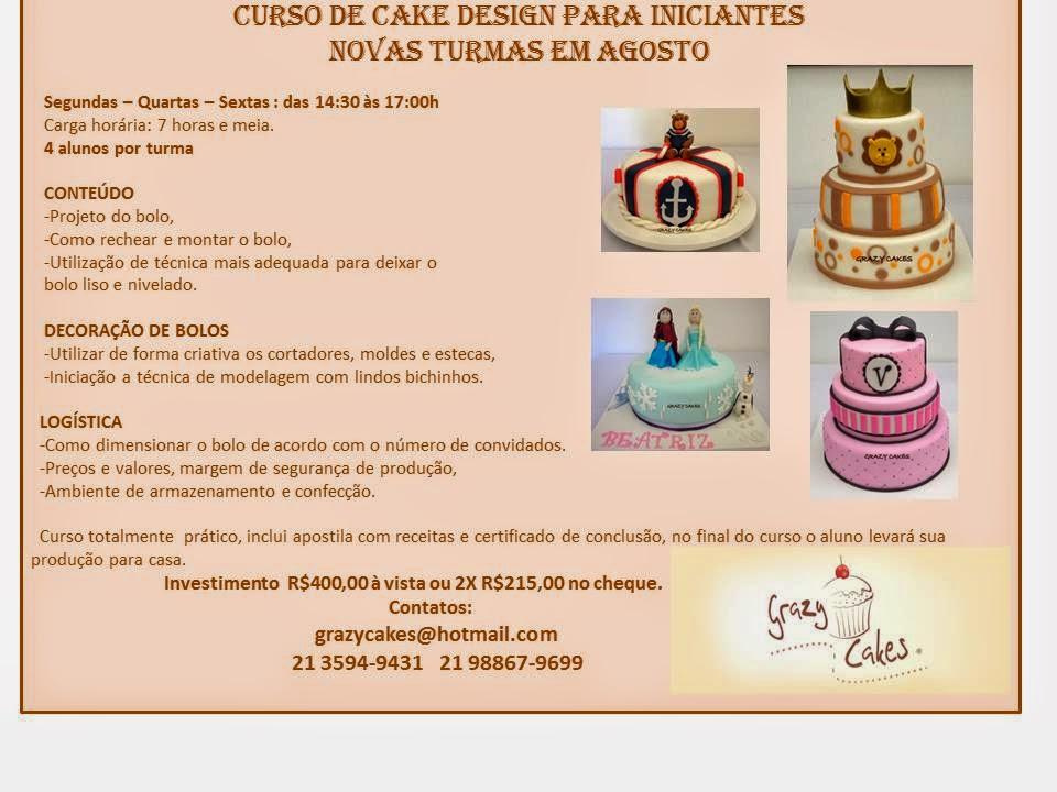 Grazy Cakes: Curso Cake Design para Iniciantes