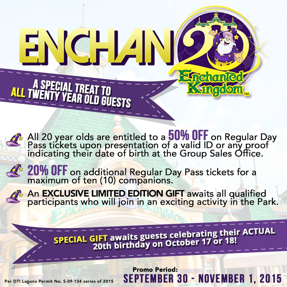 Enchanted kingdom discount coupons