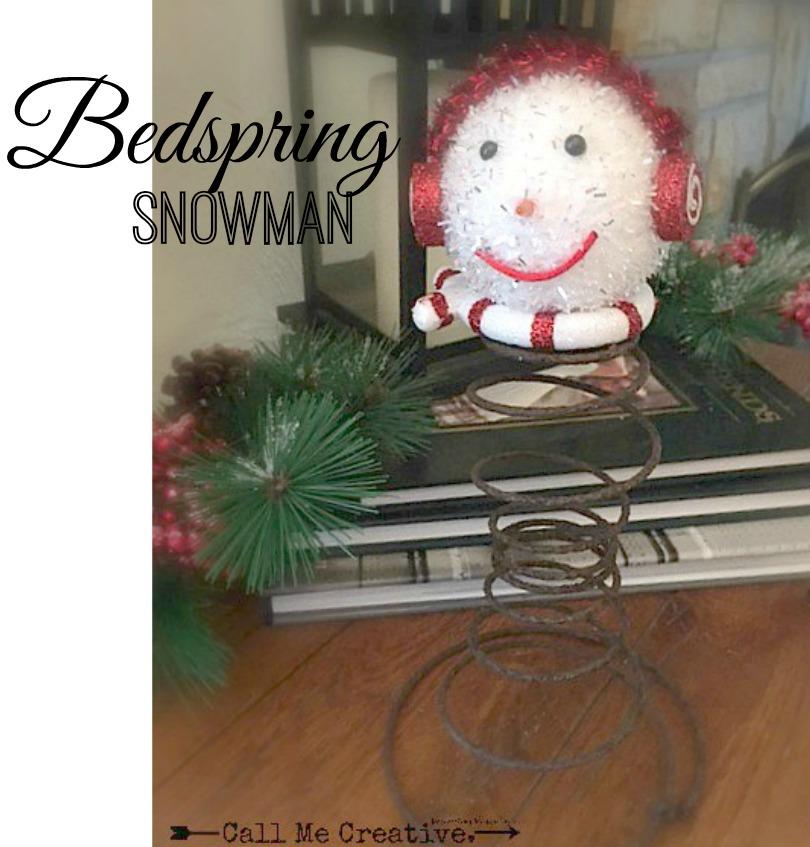 Call Me Creative Rusty Bedspring Snowman