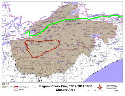 Pagami Fire Closure Area