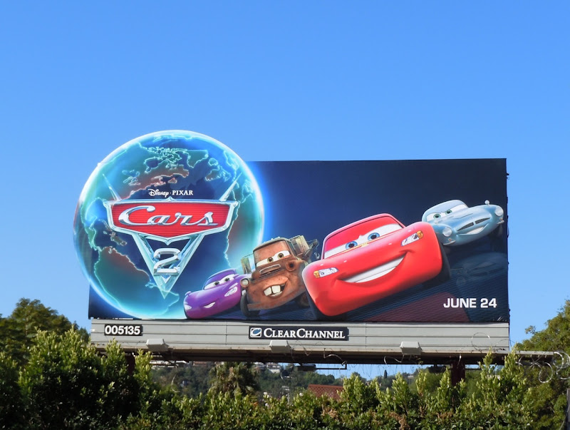 Disney Pixar Cars 2 movie billboard