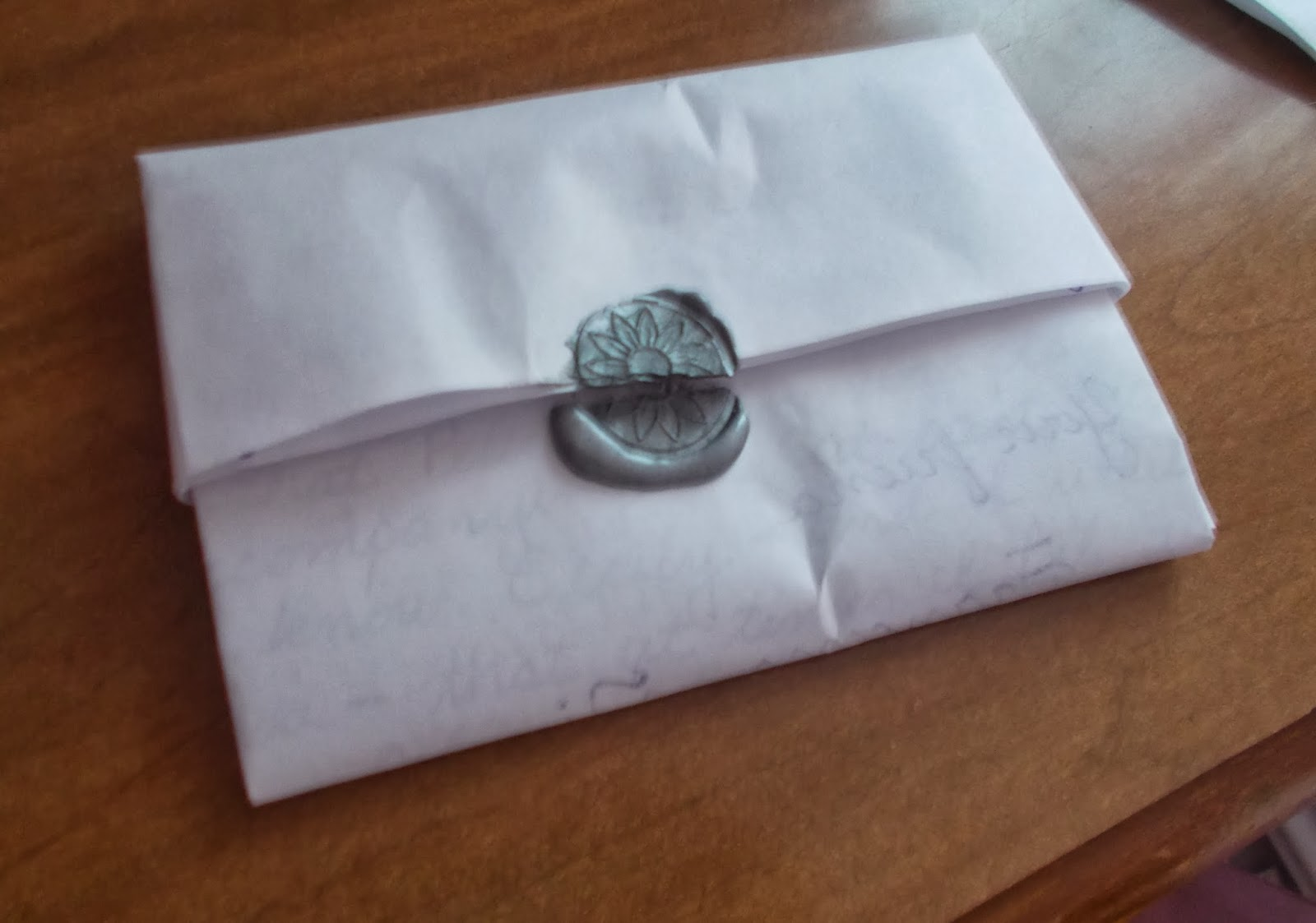 how to fold a regency letter