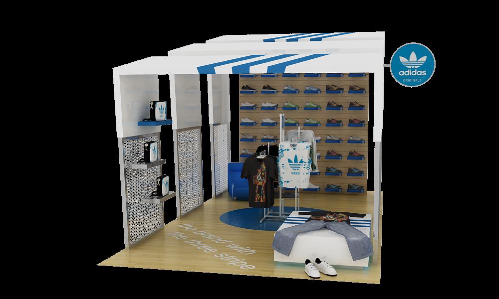 Mini Booth Design Adidas Mini Booth Design