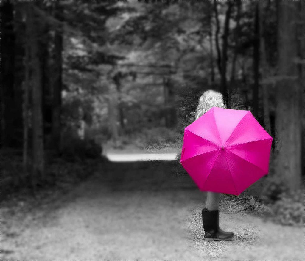 49. Girl with the Pink Umbrella by Patty