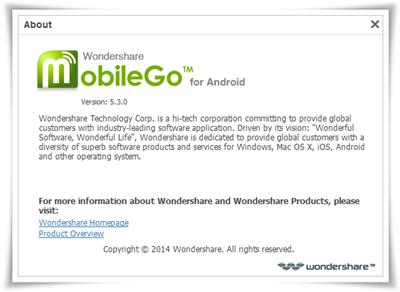 Wondershare MobileGo for Android v5.3.0.289