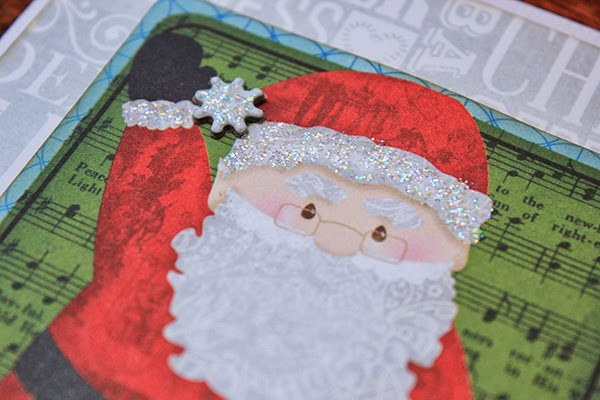 Tis The Season Santa Christmas Card by Juliana Michaels detail