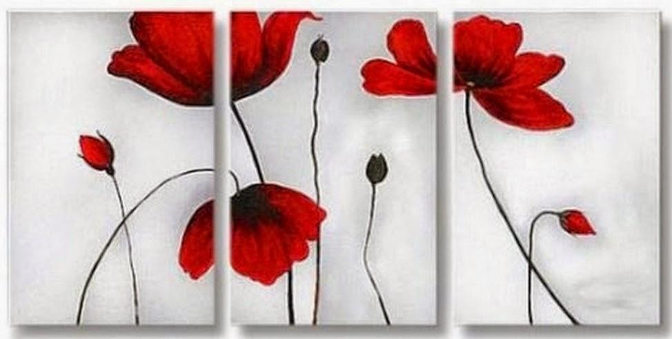 cuadros-de-flores-rojas