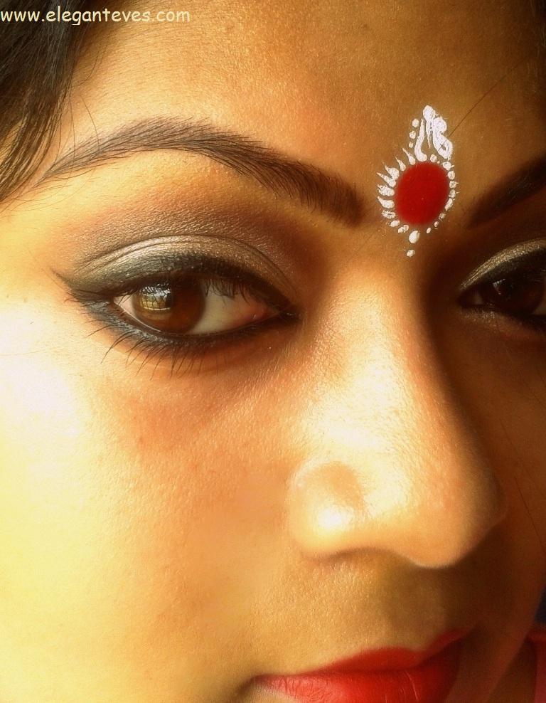 Bengali Bridal Eye Makeup: Soft Taupe Smokey Eyes ...