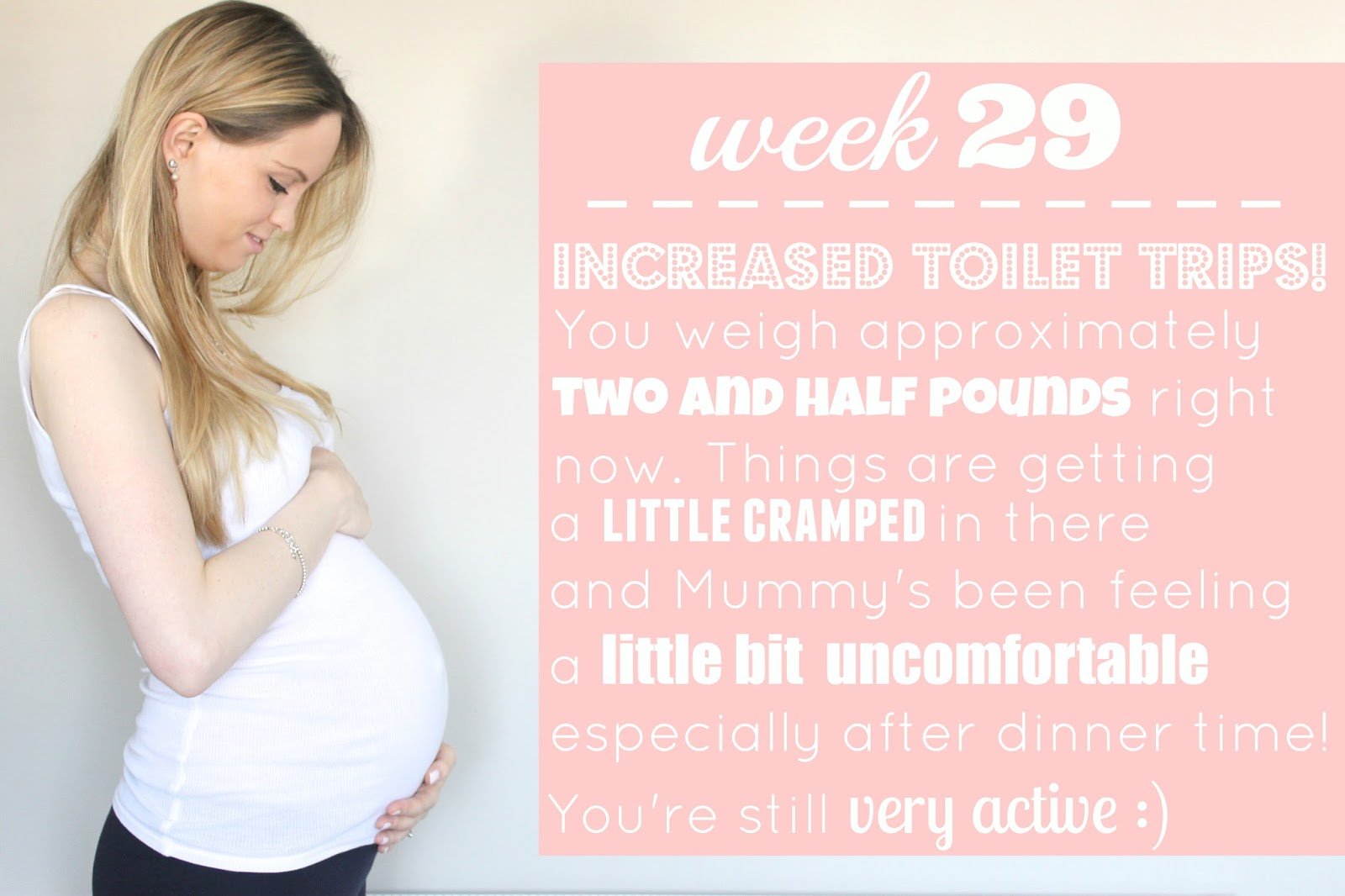 29 weeks pregnant, third trimester, 29 weeks
