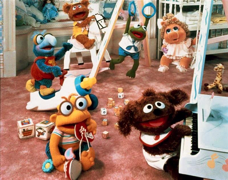 Muppet Babies Playschool Christmas Ornament Set Kermit Piggy Fozzie Gonzo Animal