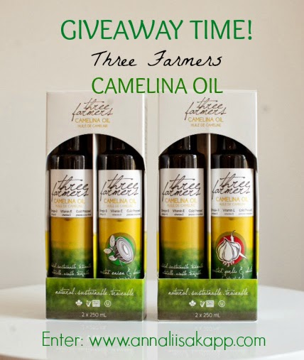 camelina oil three farmers giveaway contest
