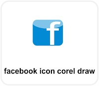 facebook icon on corel draw