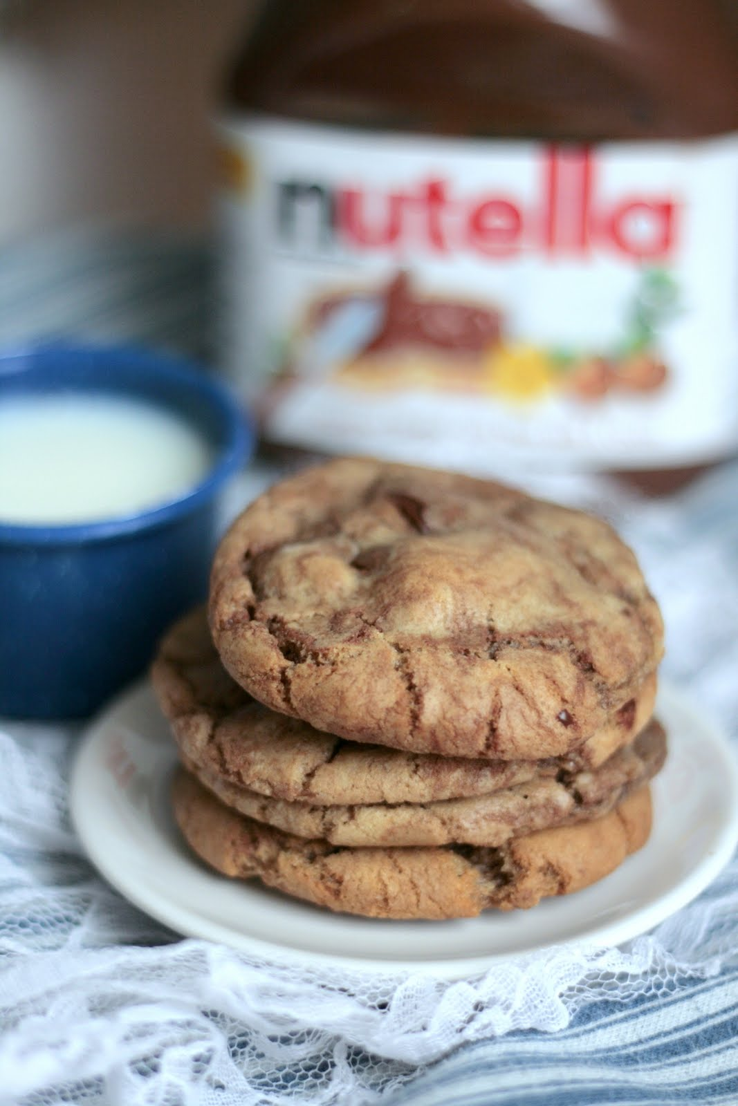 Indigo Scones: Nutella Chocolate Chip Cookies, Perfected