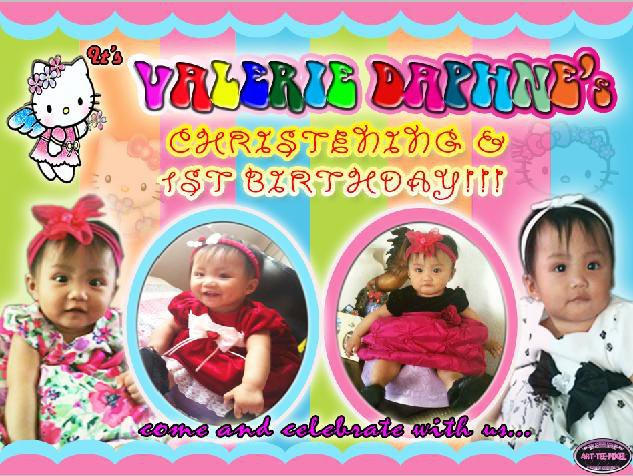 ART TEE PIXEL Lay Out Making And Video Editing 1st Birthday