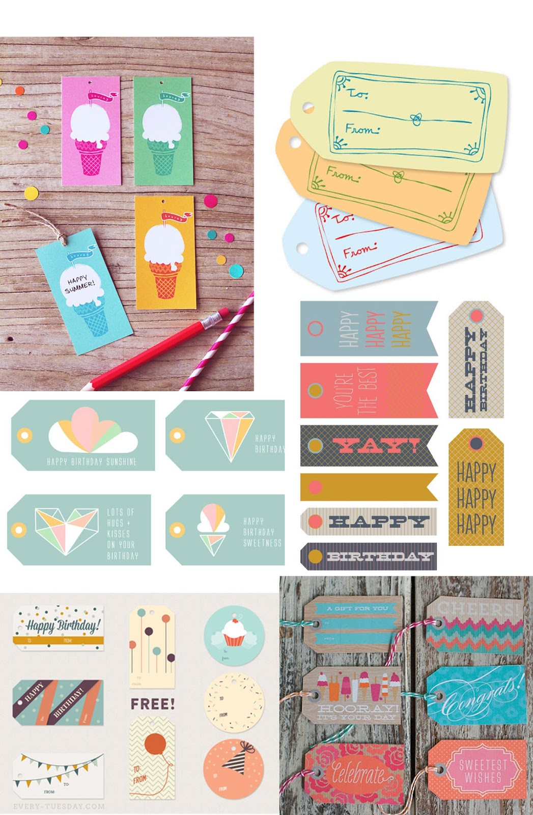 Tell free printable birthday tags tell love and party free free free i love free i love gift tags like these not only because they are so dang cute but if you have some old boring wrapping paper or box negle Choice Image