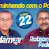 """Comício de abertura da campanha da """"Família 22"""": Prefeito Adamor Aires e Robson Federal, Vice"""