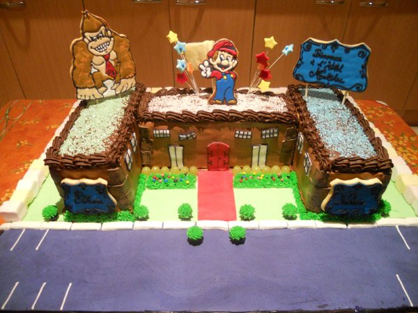 dream of cakes g teau d 39 anniversaire mario bros. Black Bedroom Furniture Sets. Home Design Ideas