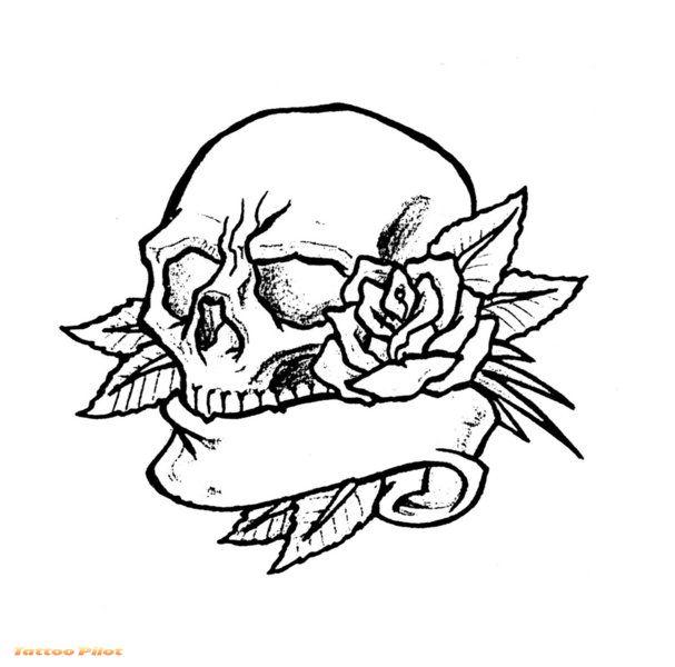 Simple Skull Tattoo Designs Drawings