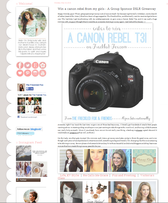 http://www.freckled-fox.com/2014/05/win-canon-rebel-from-my-girls-group.html