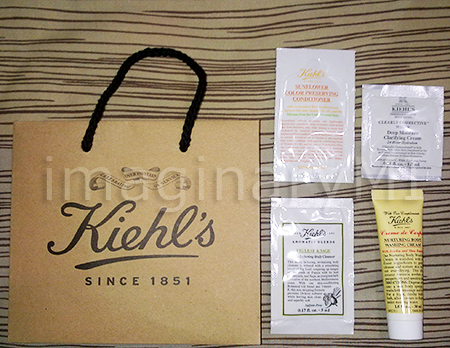 Kiehl's products Goodie Bag