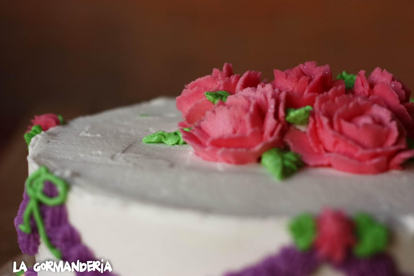 tarta Wilton 1 rosas manga pastelera