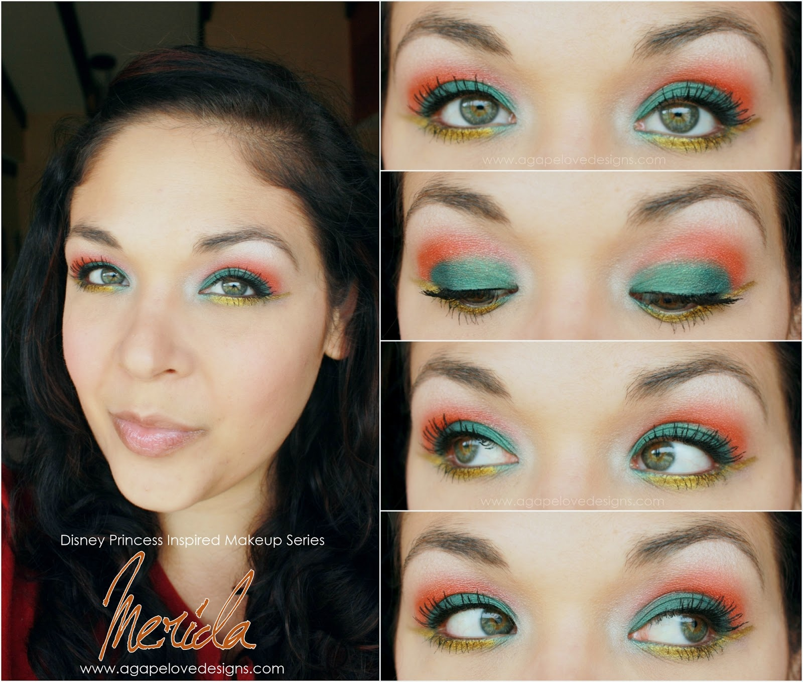 Agape love designs merida inspired makeup makeup monday color agape love designs merida inspired makeup makeup monday color challenge baditri Images