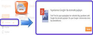 Google+ yayınlarıpaylaşın