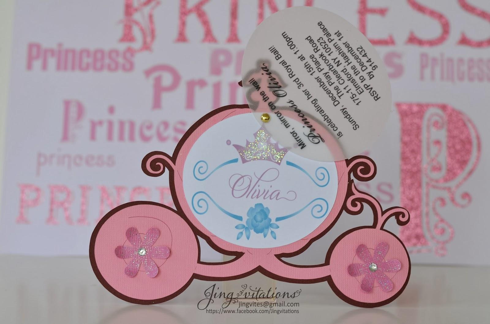 princess party invitaciones