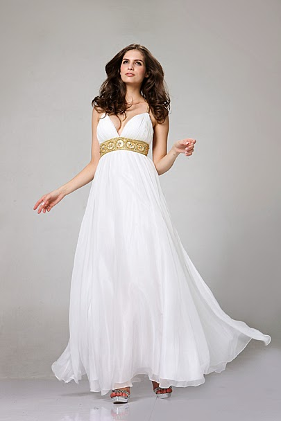 Raise a grecian goddess prom dresses bridal wedding for Grecian goddess wedding dresses