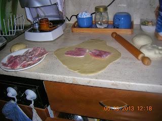 panzerotti  di farina con poolish e di pasta brise' senza burro e uova- pizza con  impasto di poolisch
