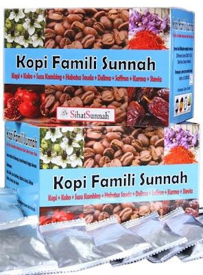 minuman kegemaran Nabi , Kopi Famili Sunnah Kopi + Koko + Susu Kambing + Habatus Sauda + Delima + Saffron + Kurma + Stevia  KOPI FAMILI SUNNAH