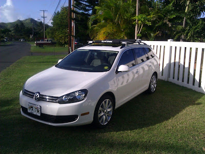 2012 VW Jetta Sportwagen Yakima Rail Grab roof racks