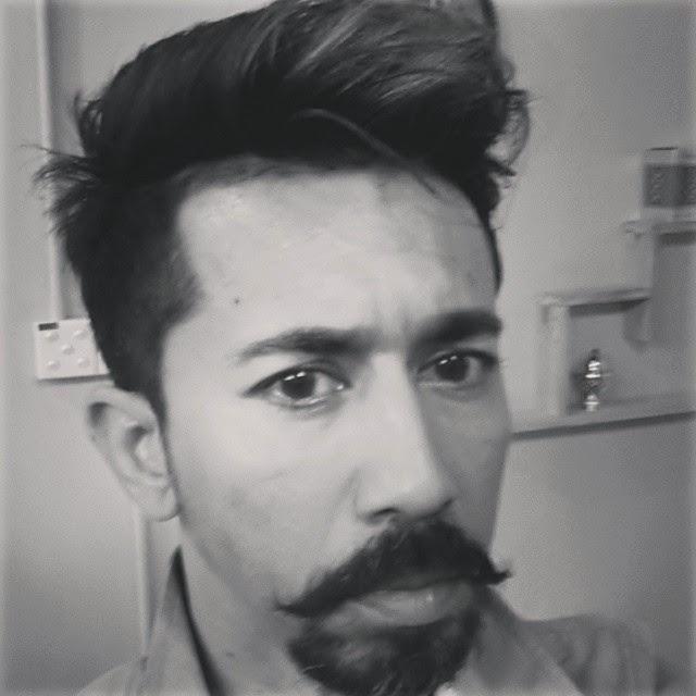 Beard pompadour