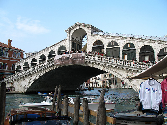 5 Top Tourist Attractions In Venice - Venice in the spring with the Rialto bridge in the background