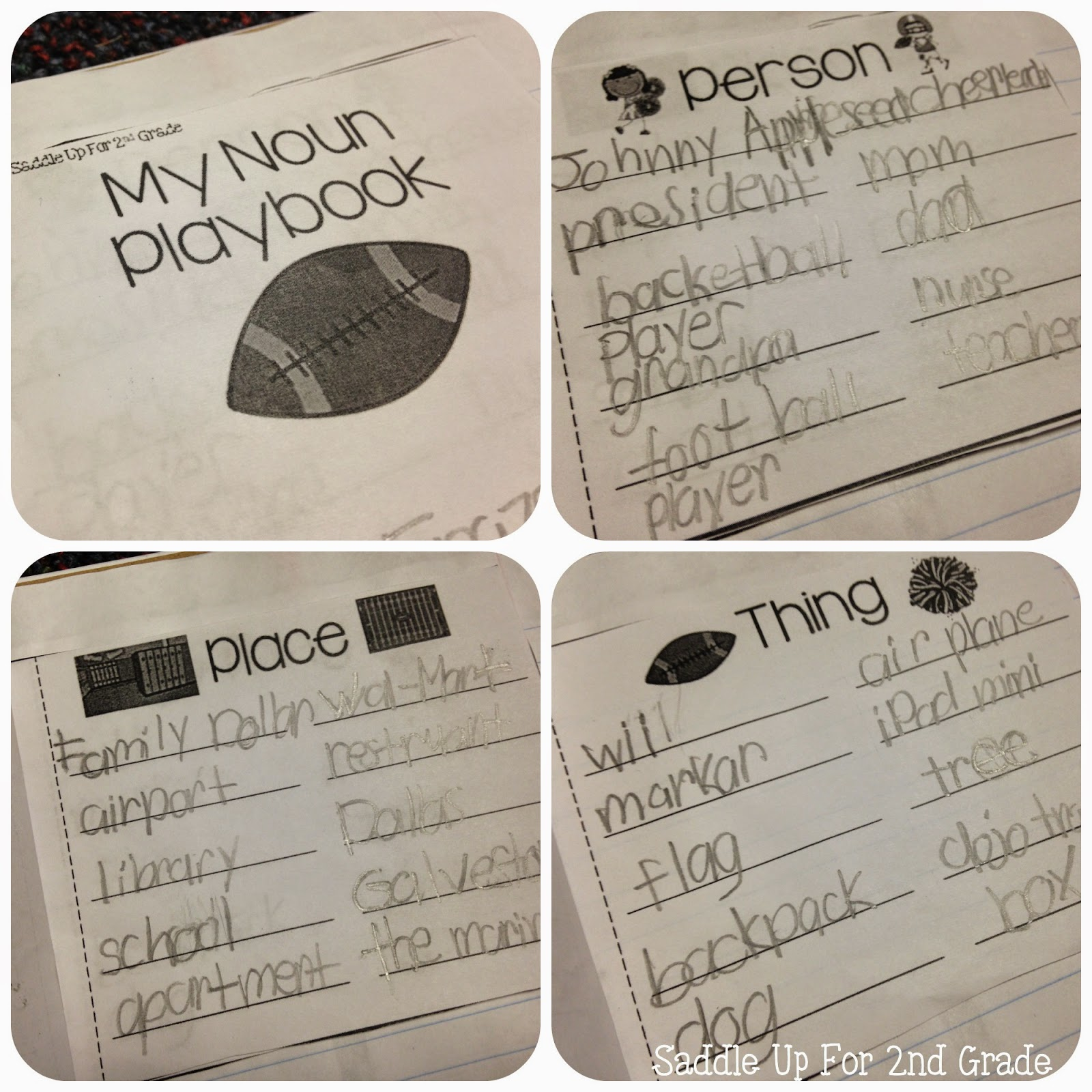 Noun Play Book by Saddle Up For 2nd Grade
