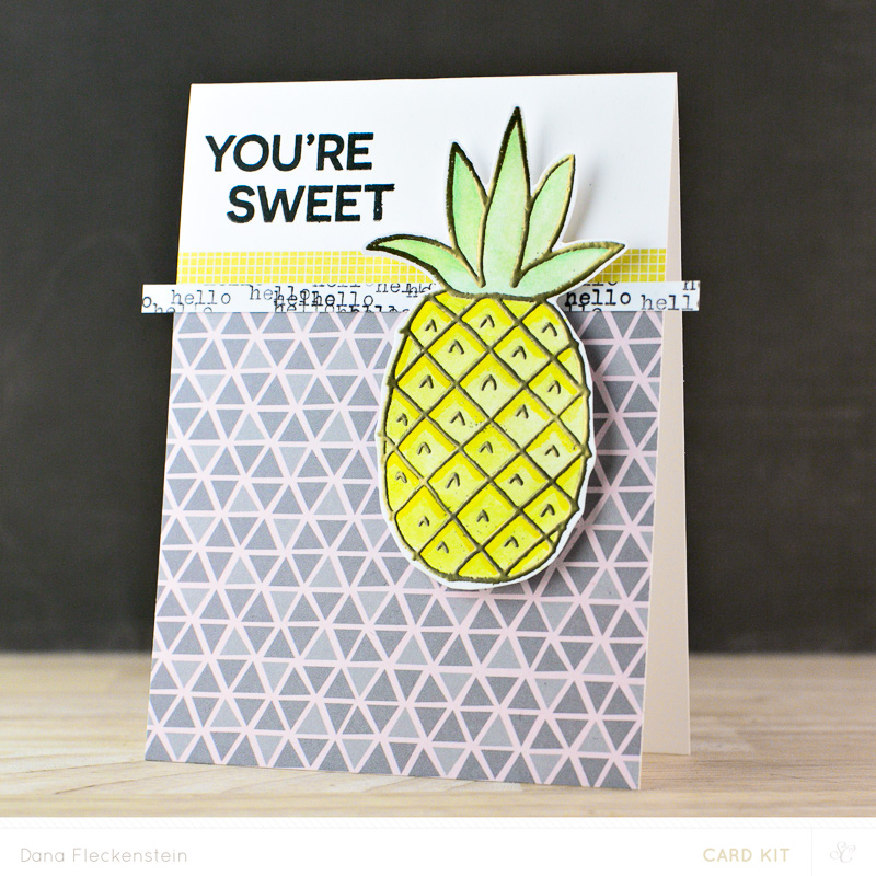 You're Sweet card by @pixnglue #studiocalico #papercrafting