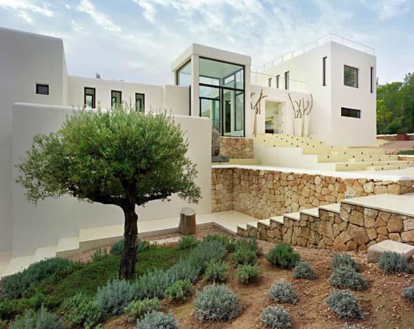 Dise o de interiores arquitectura residencia de ensue o en ibiza que combina la arquitectura - Arquitectos en ibiza ...