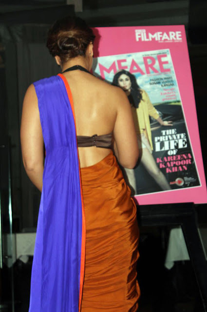kareena kapoor hot pics wearing indian saree exposing nude back and maximum skin opening filmfare magazine september 2013 covergirl
