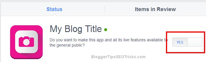Make your facebook application live`
