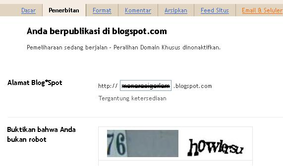 Setting costum domain blogspot di nonaktifkan