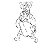 #12 The Croods Coloring Page