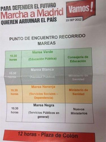 Marcha a Madrid del 15 de Septiembre 15-s