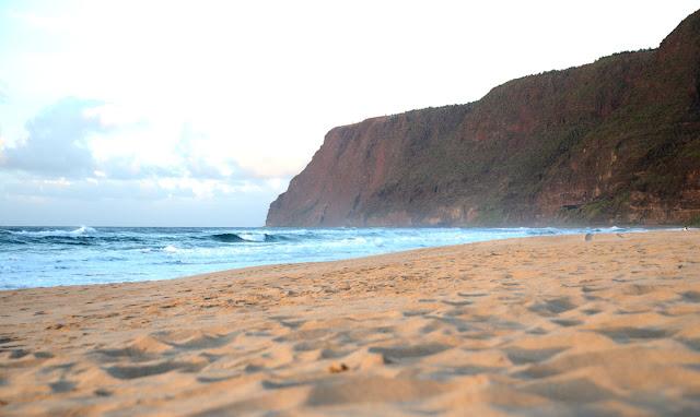 Polihale Beach, Kauai, Hawaï, USA