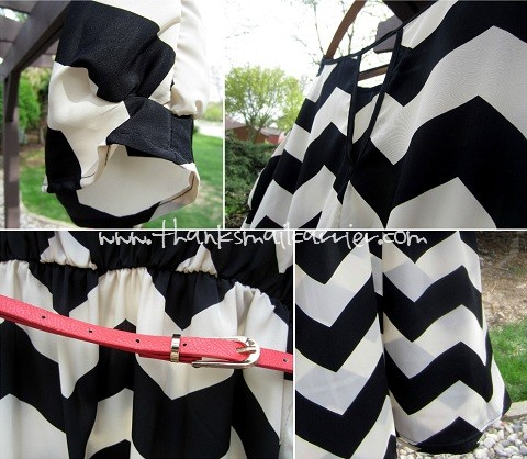 women's chevron dress