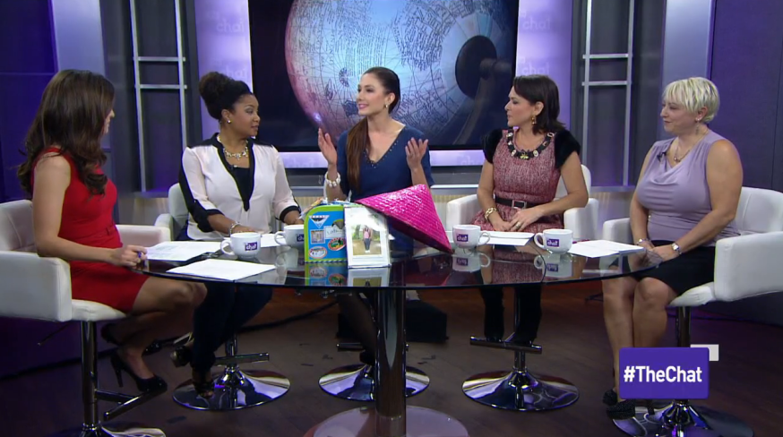 Amy West appearing on The Chat discussing creating a travel culture in your home