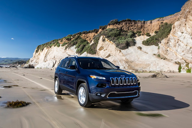 2016 Jeep Cherokee Limited 4x4 blue beach